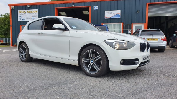 SCM Remaps Swansea Crosshands ECU Mapping BMW white 1 Series