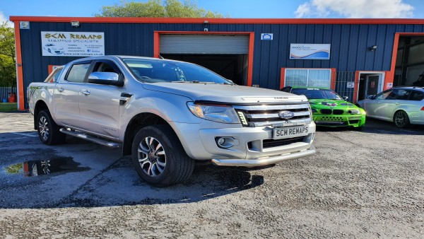 SCM Remaps Swansea Crosshands ECU Mapping Ford Ranger Silver