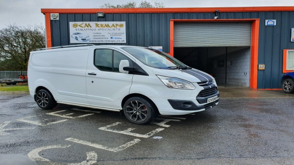 SCM Remaps Swansea Crosshands ECU Mapping Ford Transit Van White