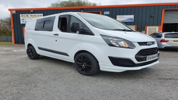 SCM Remaps Swansea Crosshands ECU Mapping Ford Transit White Van