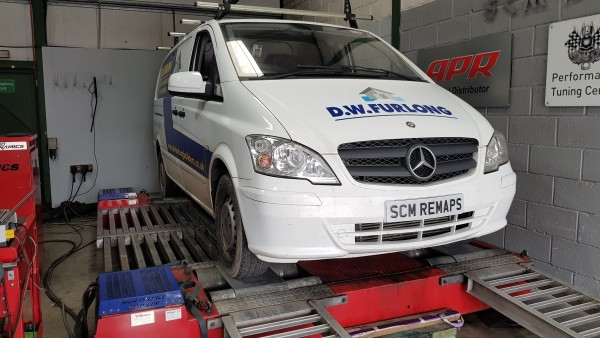 SCM Remaps Swansea Crosshands ECU Mapping White Mercedes nVan