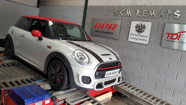 SCM Remaps Swansea Crosshands ECU Mapping White Mini Cooper
