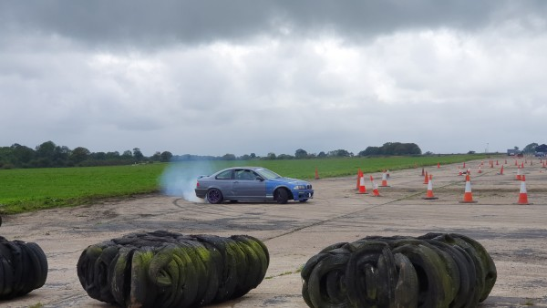 SCM Remaps BMW Drifting Grey Blue Smoke Tyres